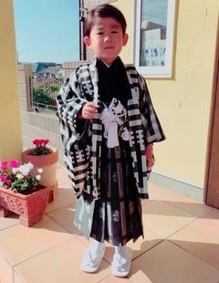 七五三5歳の男の子★ヘアセット★袴のお着付け